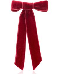 Jennifer Behr - Rose Velvet Bow Barrette - Lyst