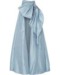 Marchesa Silk Taffeta A-line Ballgown Overskirt - Blue