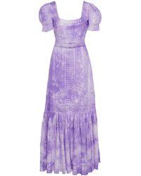 LoveShackFancy Ryan Cloud Cotton Maxi Dress - Purple