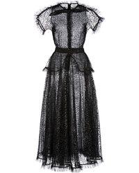 Rodarte Ruffle-trimmed Glittered Tulle Maxi Dress - Black