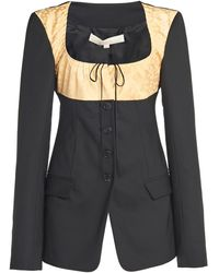 By Any Other Name Satin-trimmed Wool Blazer - Black