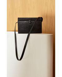 St. Agni Iniko Box Leather Shoulder Bag - Black