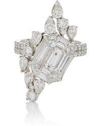 AS29 - Illusion Diamond & 18k White Gold Ring - Lyst