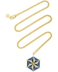 Amrapali - 18k Gold And Enamel Star Necklace - Lyst