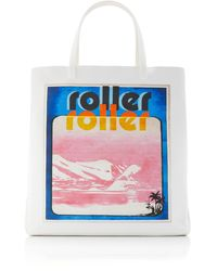 Zimmermann Small Printed Tote - White