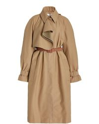Victoria, Victoria Beckham Double-faced Cotton-blend Trench Coat - Natural