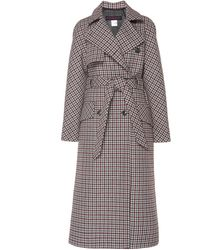 Martin Grant Checked Wool-blend Trench Coat - Multicolour