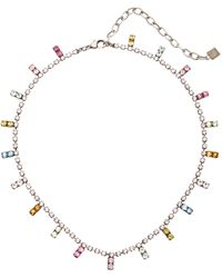 DANNIJO Nepture Rainbow Brass And Crystal Necklace - Metallic