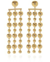 Lulu Frost Sundance Gold-plated And Mother-of-pearl Earrings - Metallic