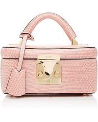 Stalvey Lizard Beauty Case - Pink