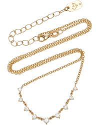 Carbon & Hyde Mini Starstruck 14k Gold And Diamond Necklace - Metallic