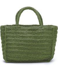 Miista Clyde Woven Raffia Bag - Green