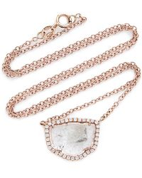 Nina Runsdorf - M'o Exclusive: One-of-a-kind Slice Diamond Pendant Necklace - Lyst