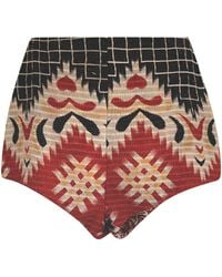 Alix Of Bohemia Yaya One-of-a-kind Cotton Kantha Mini Shorts - Multicolour