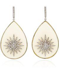 Amrapali - 14k Gold Diamond And Bakelite Earrings - Lyst