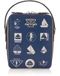 Prada Nautical Leather Crossbody Bag - Blue