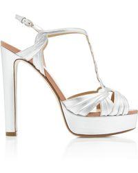 Francesco Russo - Metallic Platform Sandal - Lyst