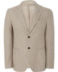 Eidos - Hopsack Wool Two-button Blazer - Lyst