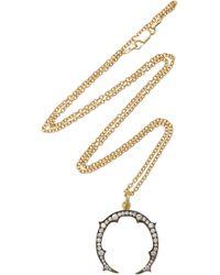 Sylva & Cie - 18k Gold And Diamond Necklace - Lyst