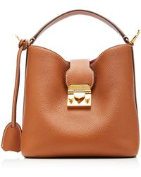 Mark Cross Murphy Small Textured-leather Bucket Bag - Brown