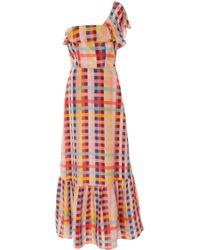Carolina K - Una One-shoulder Silk-chiffon Maxi Dress - Lyst