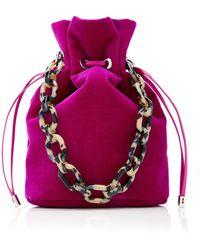 Edie Parker Shorty Velvet Bag - Pink