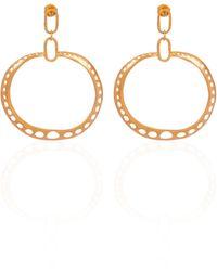 CANO Eli 24k Gold-plated Brass Earrings - Metallic