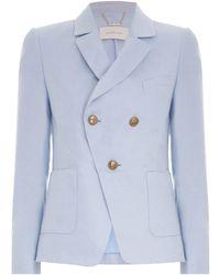 Zimmermann The Lovestruck Linen Tuxedo Jacket - Blue