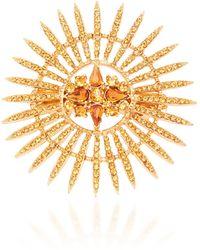Oscar de la Renta Crystal-embellished Hair Clip - Metallic