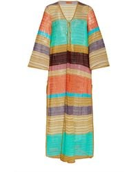 Missoni - Striped Knitted Robe - Lyst