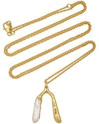 Pacharee 18k Yellow Gold Wishbone Necklace - Metallic