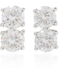 Anita Ko Two Dots Earrings - Metallic