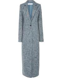 Marina Moscone Recycled Denim Felt Longline Coat - Blue