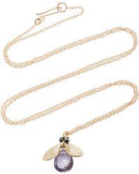 Annette Ferdinandsen - Jewelled Bug 14k Gold And Black Diamond Pendant Necklace - Lyst