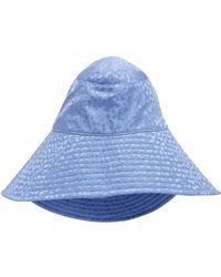 Federica Moretti - High-low Ribbed Silk Sun Hat - Lyst