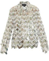 ANOUKI Sequin Fringe Shirt - Metallic