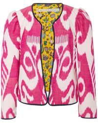 Alix Of Bohemia Sly Fox Printed Silk And Cotton-blend Jacket - Pink