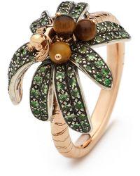 Bibi Van Der Velden Monkey Palm Ring - Metallic
