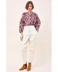 Chufy Luiza Printed Cotton-silk Blend Blouse - Multicolour