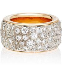 Pomellato - Iconica Maxi Rose Gold Diamond Ring - Lyst