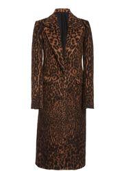 Marina Moscone Leopard-printed Sherpa Coat - Brown