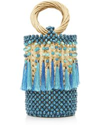 Rosantica - Dwight Wood And Wicker Bag - Lyst