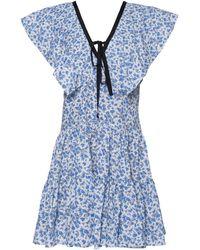 Lug Von Siga Cora Cotton-blend Mini-dress - Blue