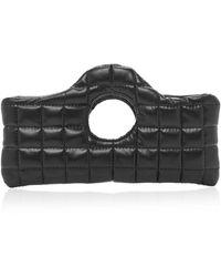 A.W.A.K.E. MODE Ari Mini Quilted Leather-effect Clutch - Black