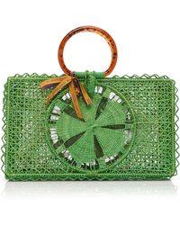 Silvia Tcherassi Riomar Iraca Palm Bag - Green