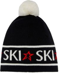 Perfect Moment Ski-knit Wool-blend Beanie - Black