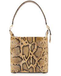 Rejina Pyo Lucie Snake-effect Leather Top Handle Bag - Multicolour