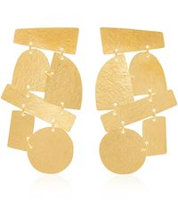 Annie Costello Brown Paradiso 18k Gold-plated Earrings - Metallic