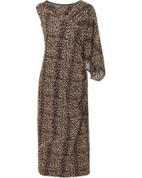 Christian Siriano - Cheetah Mesh One Sleeve Dress - Lyst