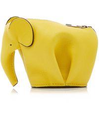 Loewe Elephant Coin Purse - Yellow